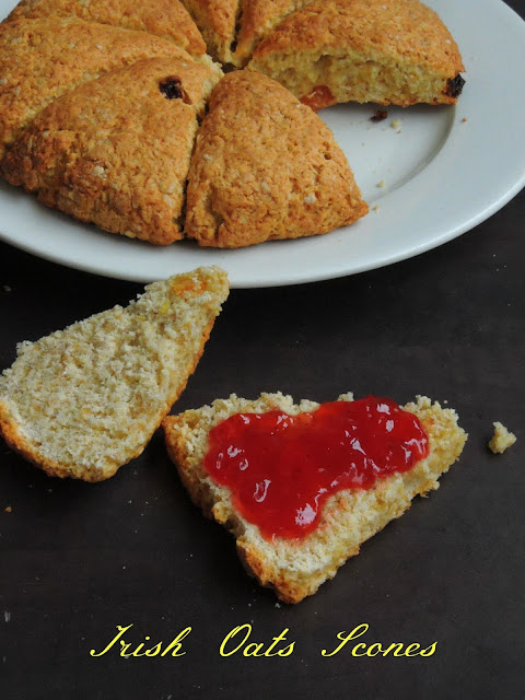 Oats Scones, Irish Oats Scones
