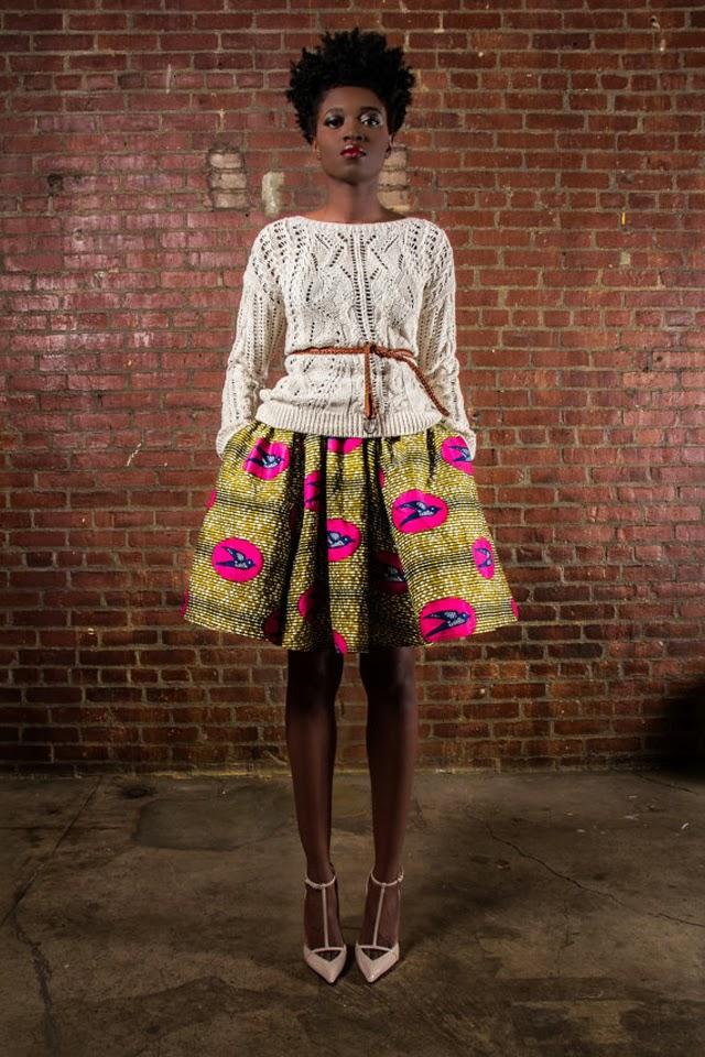 African print -skirt- mode de pagne africain