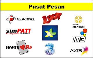 Nomor Pusat Pesan SMS Center Telkomsel, Xl, Axis dan 3 Tri Lengkap