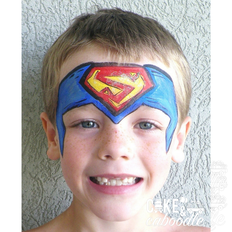 Superman Face Painting Cake And Caboodle