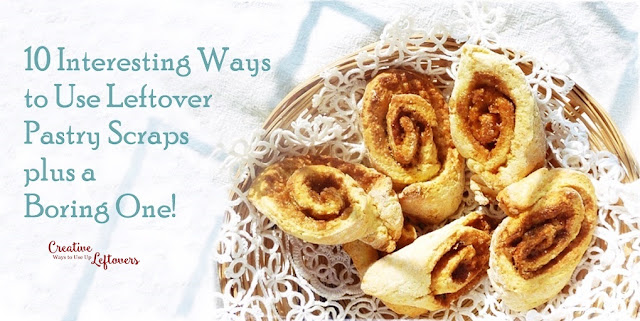 sugary pastry pinwheels from leftover pastry