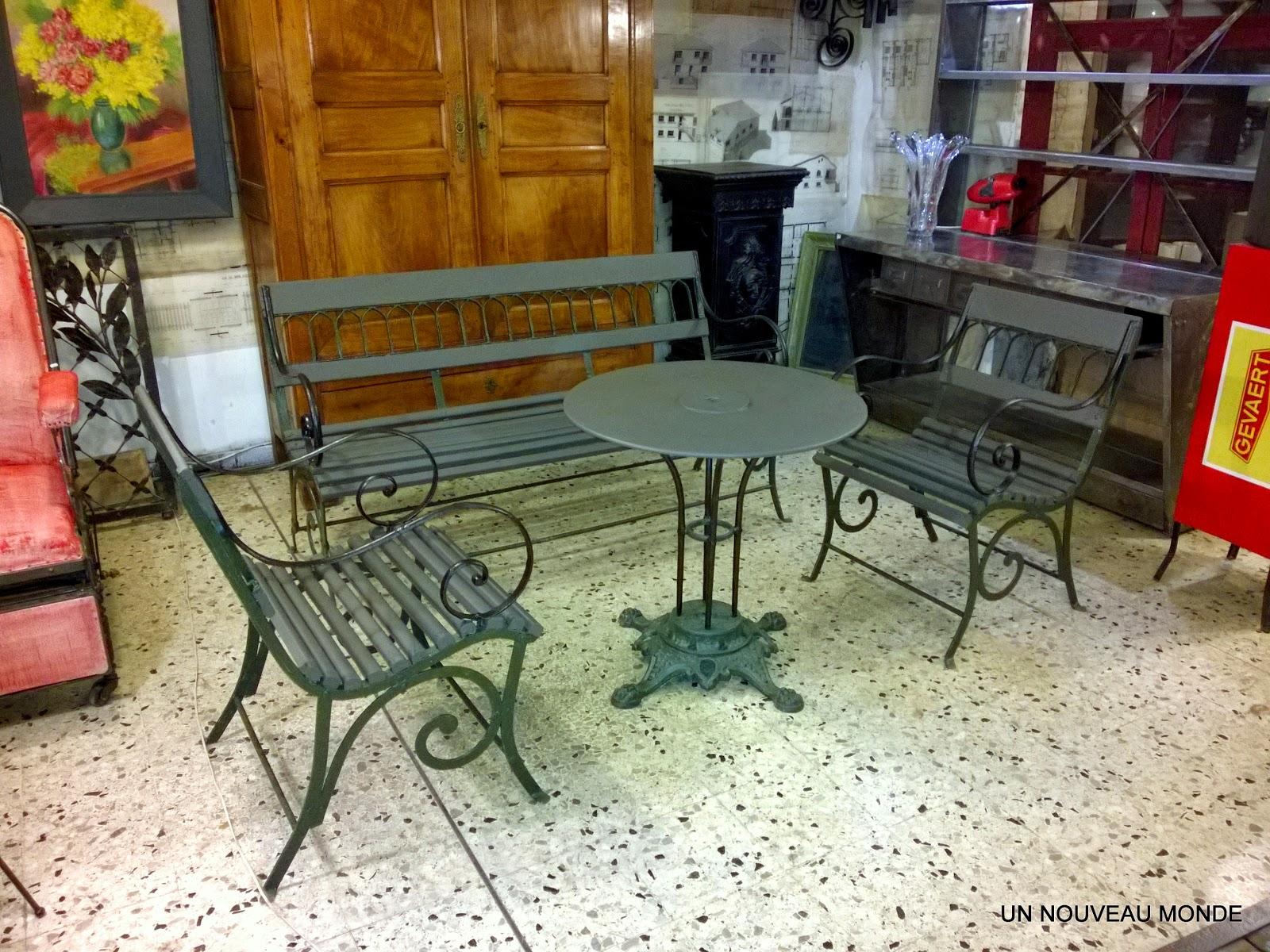 Salon De Jardin Bois Et Fer Forgé | Table De Bistrot En Bois Et Fer ...