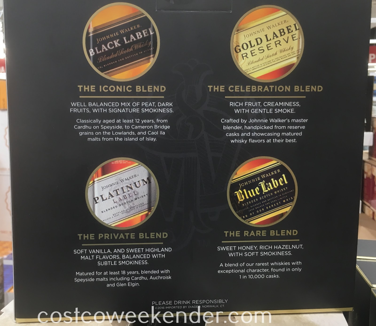 Costco 918876 - Johnny Walker Scotch Collection - the perfect gift to all scotch whisky connoisseurs