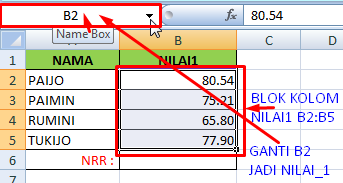 Cara dan Contoh Membuat RANGE di Excel
