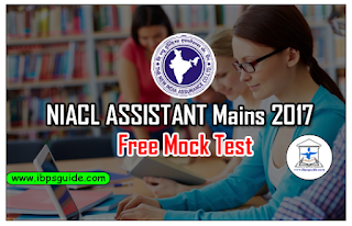 NIACL Assistant Mains 2017- Free Mock Test - 1 | Download in PDF