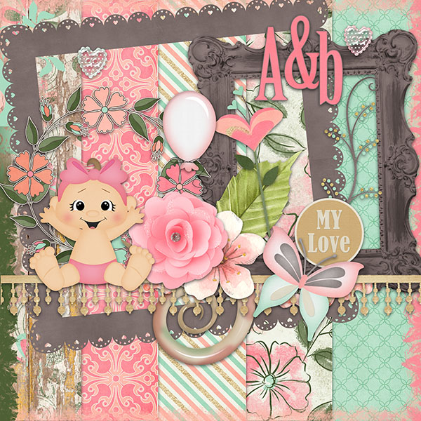 Baby Girl Quick Page - Freebie