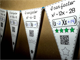 Fun with Quadratics | factoring math pennant