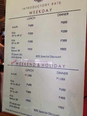 Rates at Vikings Mall of Asia