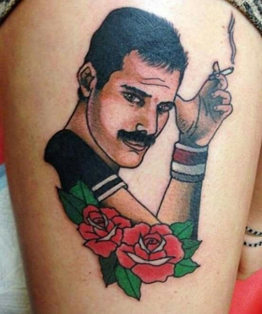 tatuagens do Freddie Mercury