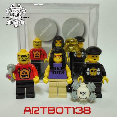 Legends of Vinyl Custom LEGO Mini Figure Set #2 feat Skinner, Sarah Jo Marks & Kaws by Artbot138