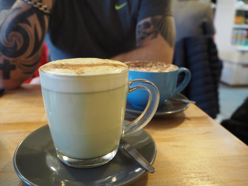 Matcha latte - Brunch at the Long dog cafe Aberdeen