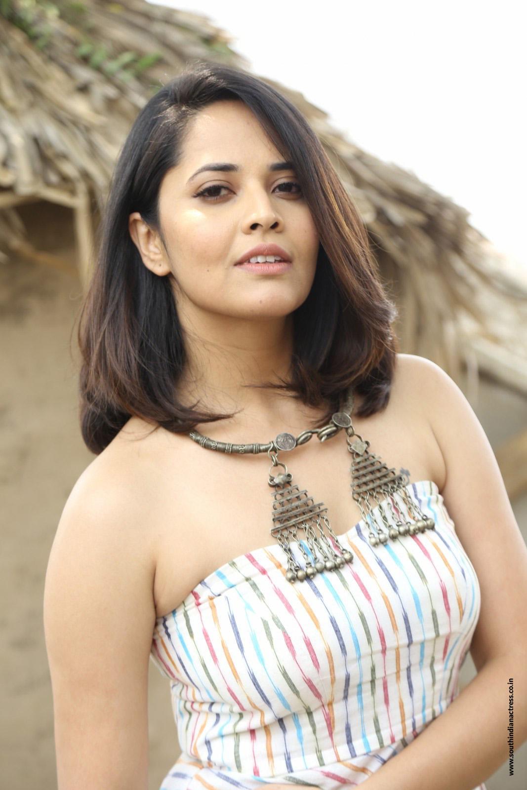 Anasuya Bharadwaj Stills At Rangasthalam Movie Press Meet