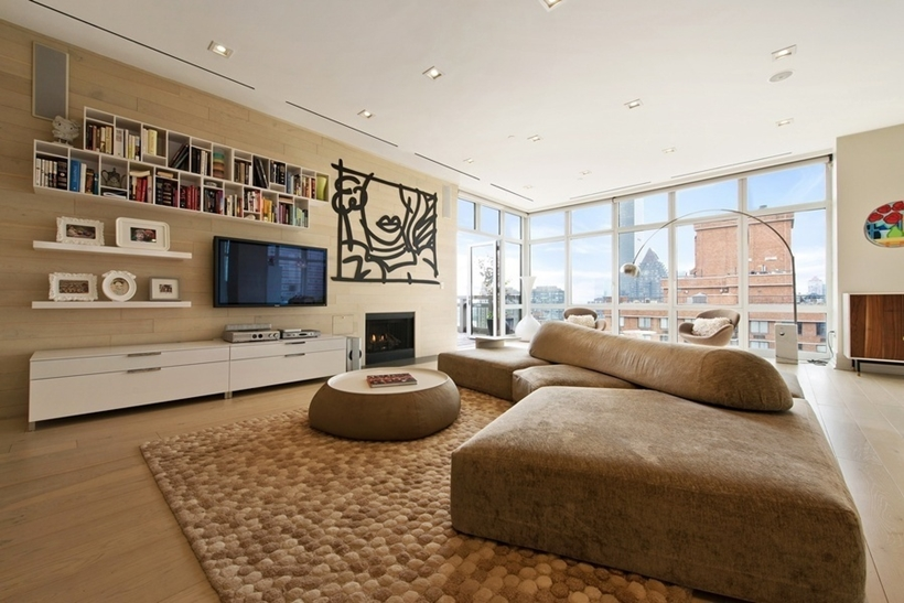 Living Room In Wolf Of Wall Street Manhattan Apartment