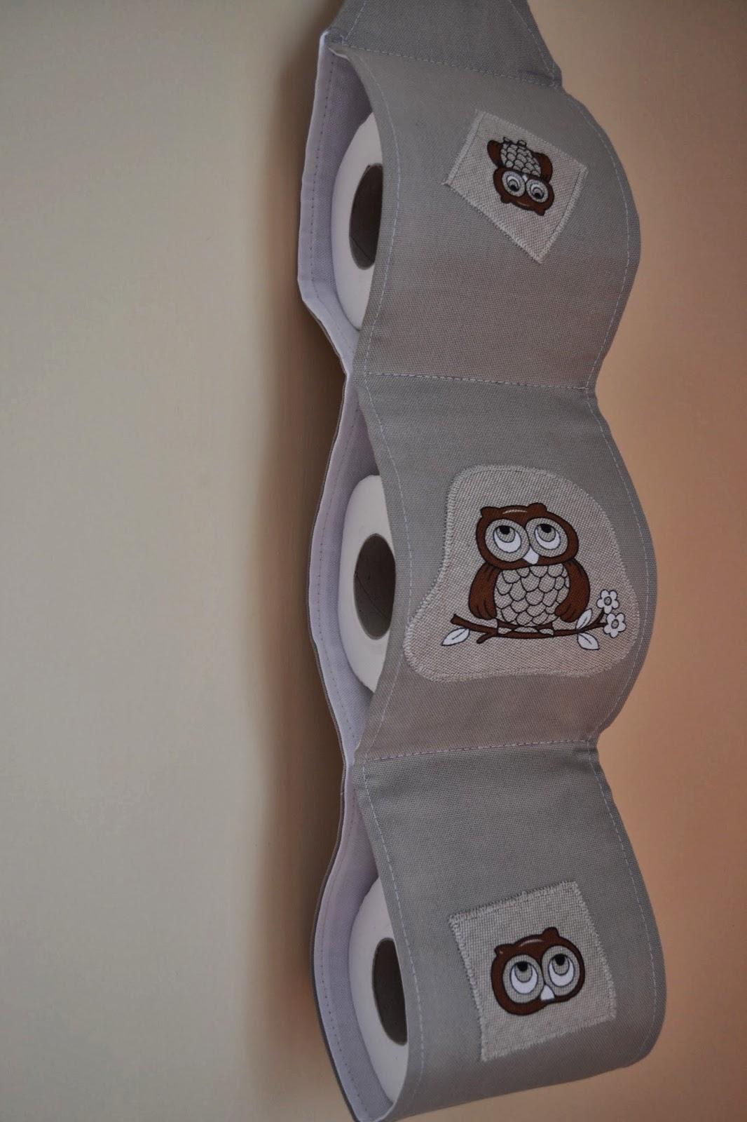 Popolare stoffa amore e fantasie: porta rotoli carta igienica CC28