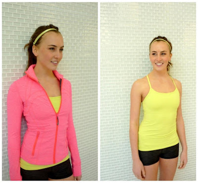 lululemon flash define jacket and wild lime power y tank