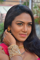 Actress Risha Pos in Pink Silk Saree at Saravanan Irukka Bayamaen Tamil Movie Press Meet  0002.jpg