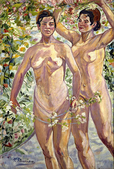 Francisco Iturrino González: Ragazze con fiori