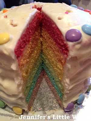 My first rainbow cake