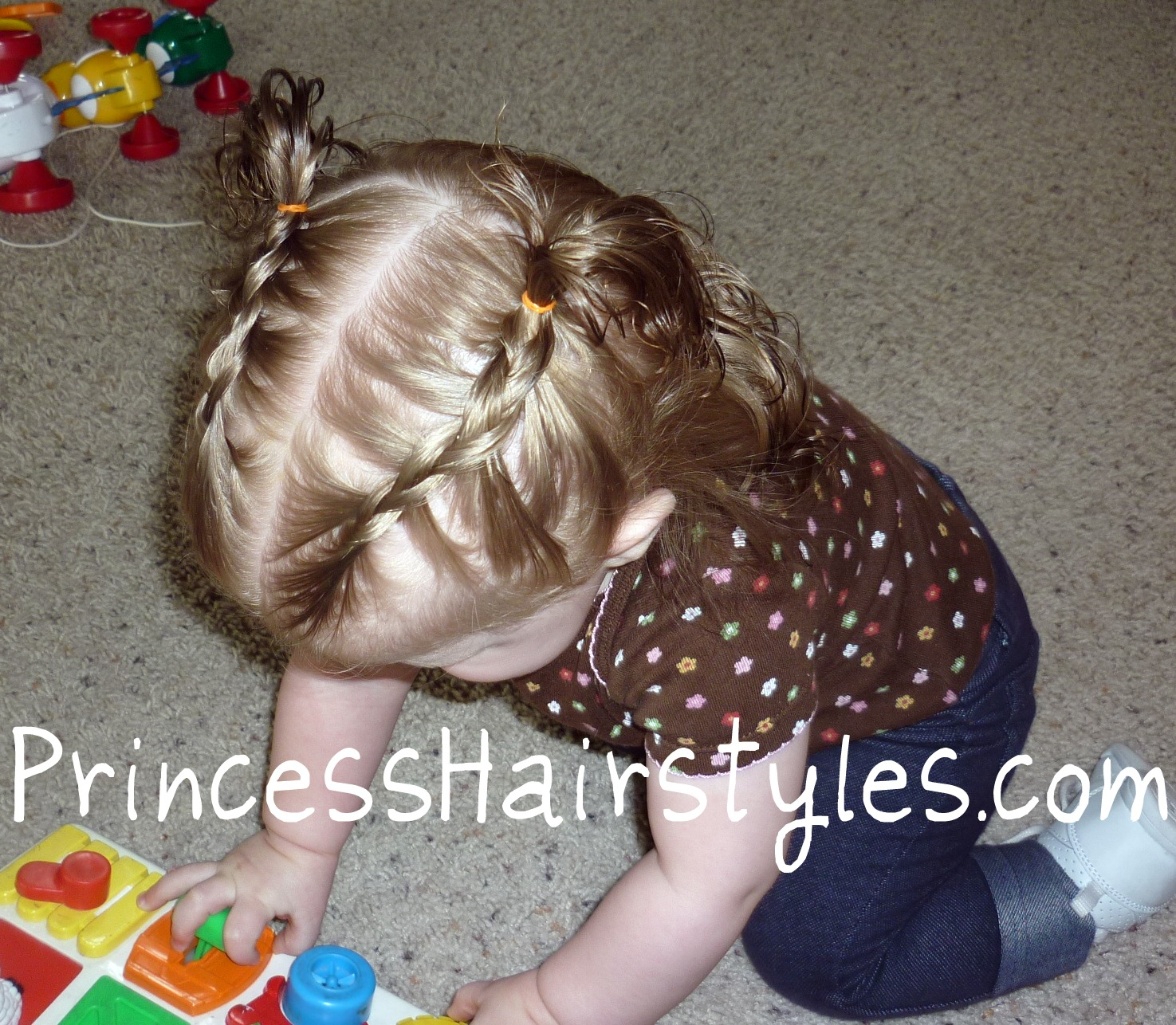 tiny french braids - baby hairstyles | hairstyles for girls