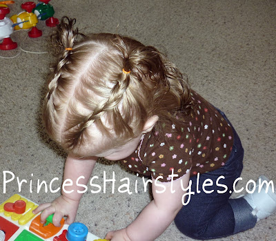 french braids for baby