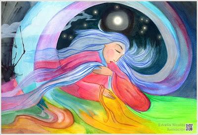 interior, sentimiento, mundo, madre