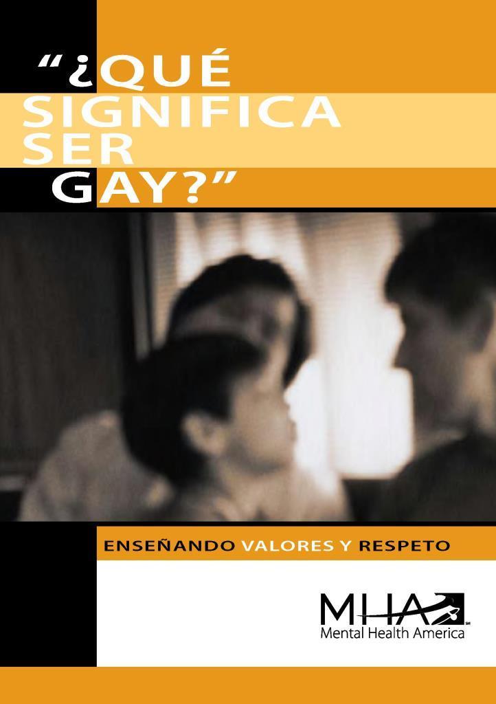 ¿Qué significa ser gay?: Enseñando valores y respeto