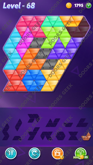 Block! Triangle Puzzle Grandmaster Level 68 Solution, Cheats, Walkthrough for Android, iPhone, iPad and iPod