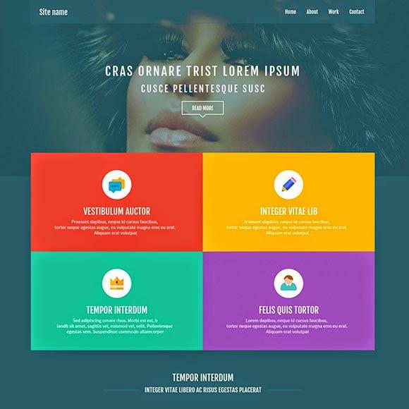 Grid Based Website PSD