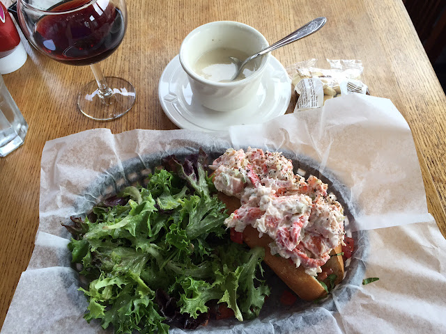 Lobster roll and New England clam chowder in Providence Town, Cape Cod, MA