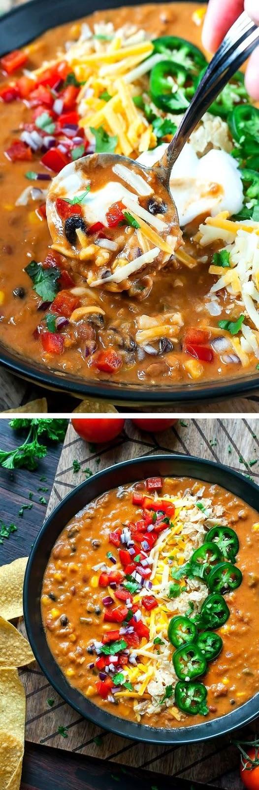 Vegetarian Lentil Tortilla Soup
