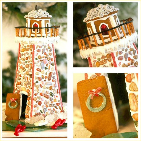 Instruction how to Make a Gingerbread Lighthouse