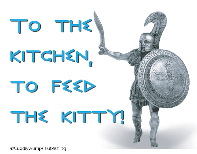 Celebrate Exelauno Day by marching forth to the kitchen to feed your kitty!