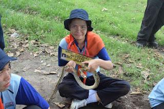 ounbond kegiatan pra kuliah PSPP Yogyakarta takut ular
