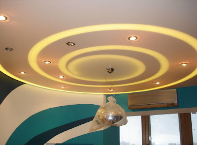office ceiling design false ceiling with hidden LED lighting