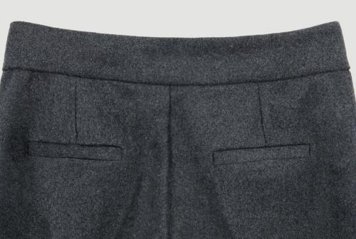 Side Zipper Ankle Cut Slacks