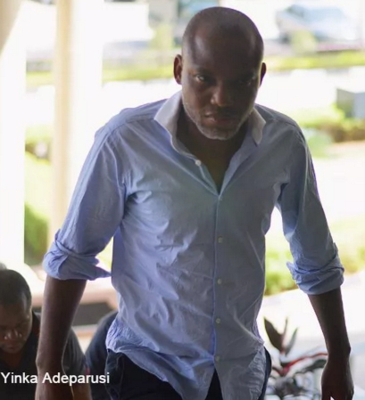 nnamdi kanu brother chases lawyer out court