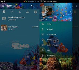 BBM MOD Tema Nemo v3.3.0.16 APK Versi Terbaru