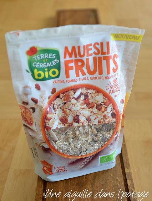 muesli fruits Terres et céréales bio