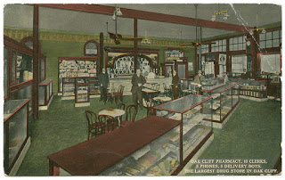Pharmacy postcard from DeGolyer Library, Southern Methodist University