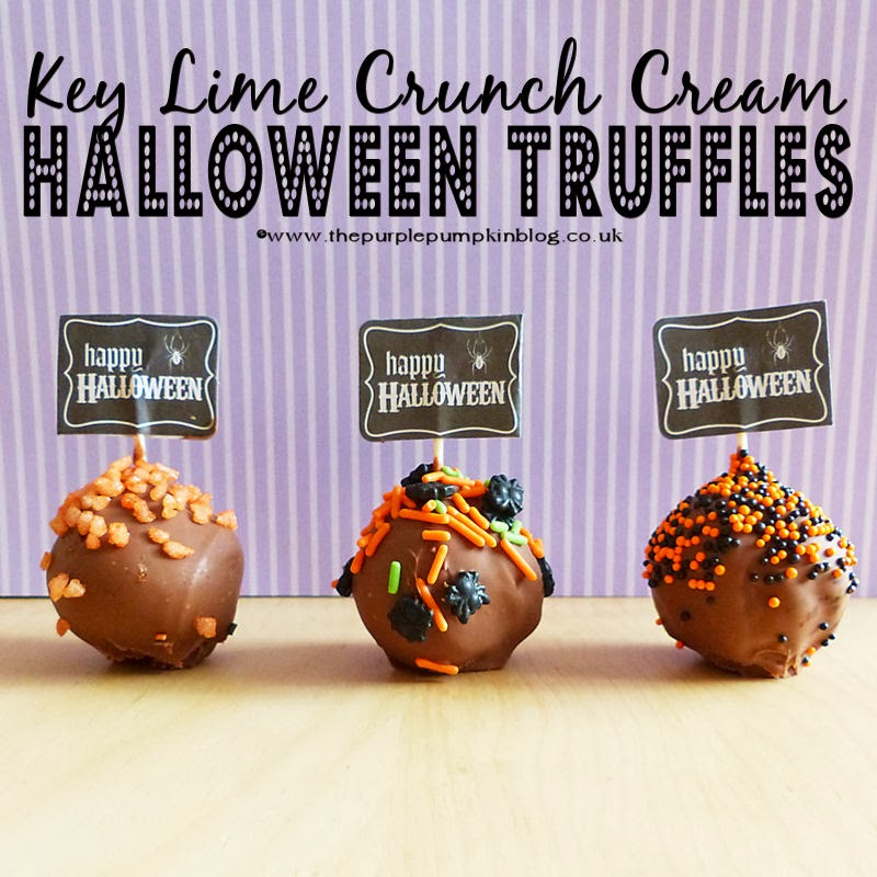 Key Lime Crunch Cream #Halloween Truffles #nobake
