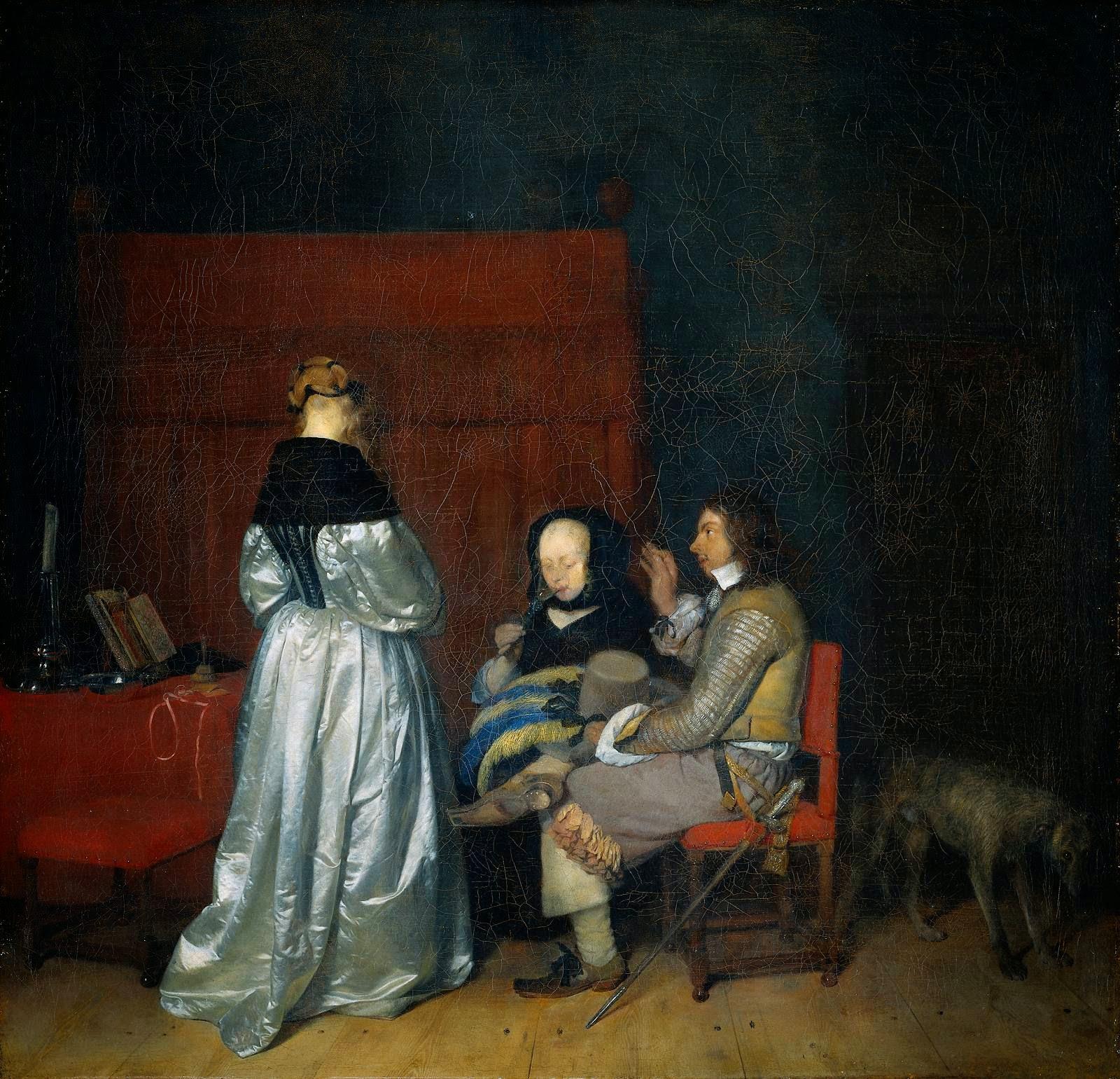 Gerard ter Borch o Gerard Terborch - Conversación galante - Amonestación paterna