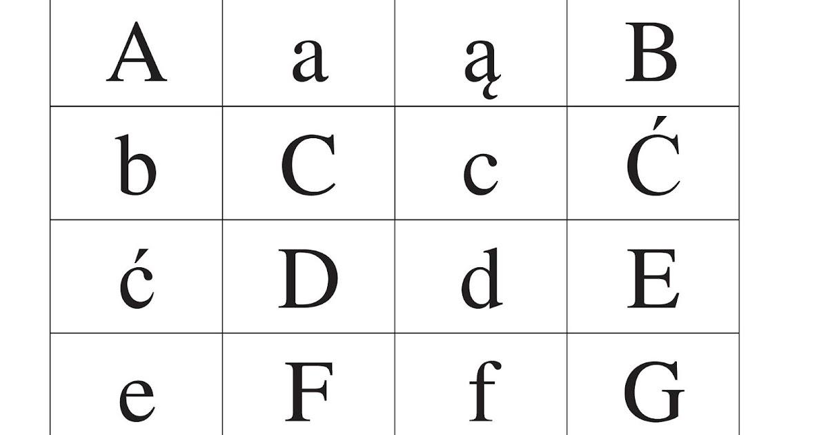 Literki Alfabet Do Druku Blog Parentingowy Lifestylowy Matka