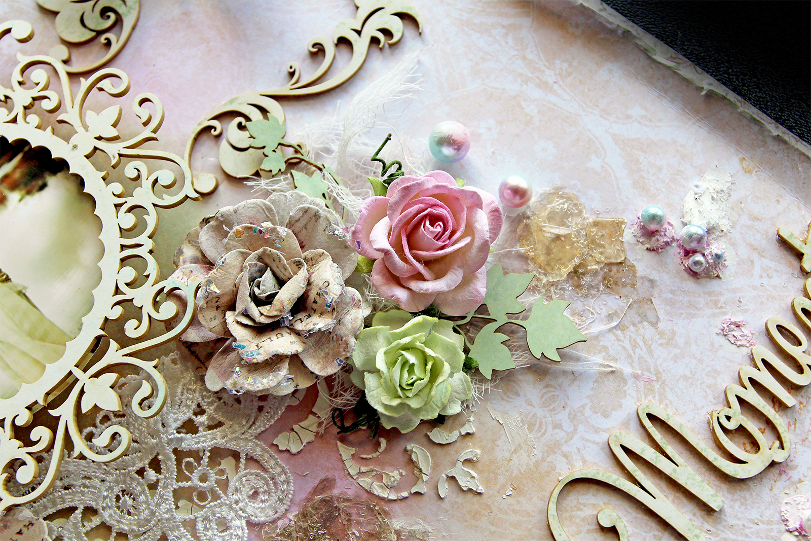 Reneabouquets August 2018 Vintage Story Flower Shabby Rose 3 Inked Some Beautiful Board Laser Cut Chipboard Ivy Vine Tuck Ins Them Apart And Tucked In I Also One Of My Handcrafted Love