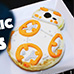 Star Wars BB8 Garlic and Cheese Toasties