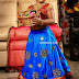 Blue Glass work Lehenga