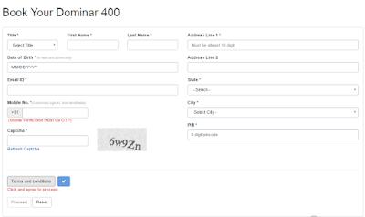 Buy Bajaj Dominar 400 Online