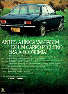 propaganda Chevette - 1973, Chevrolet década de 70, anos 70, GM, Oswaldo Hernandez, carros antigos,