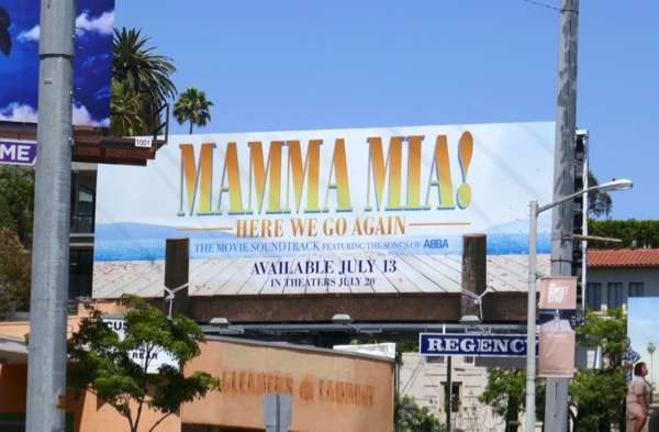 Mamma Mia Here We Go Again soundtrack billboard