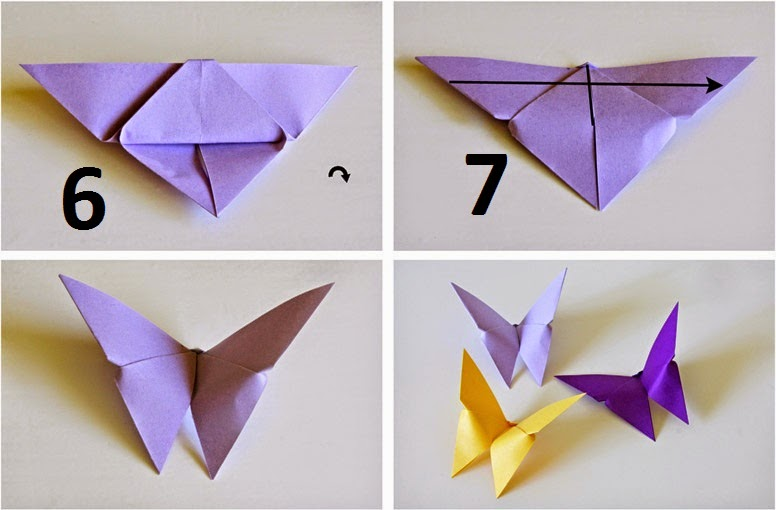 How to make Origami Butterfly | Origami Paper - photo#29