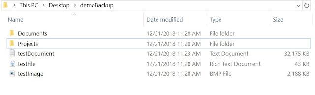 Original files and folders